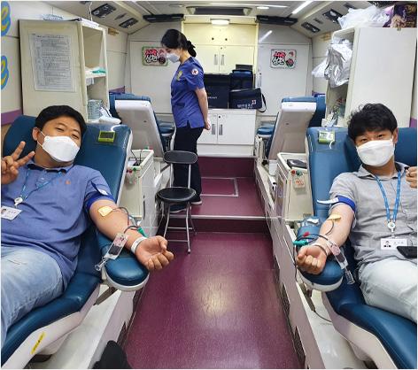 헌혈캠페인 동참 이미지