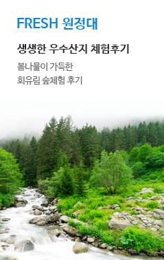 FRESH 원정대. 생생한 우수산지 체험 후기. 충북 제천 회유림 숲체험 산지 체험 후기